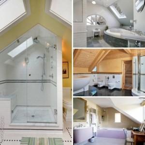 мансарда ванная комната